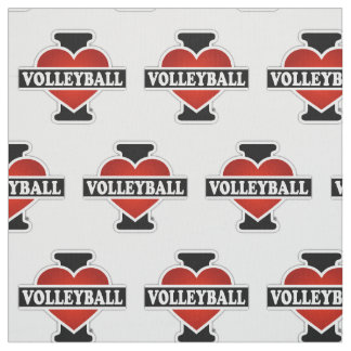 I Love Volleyball Fabric