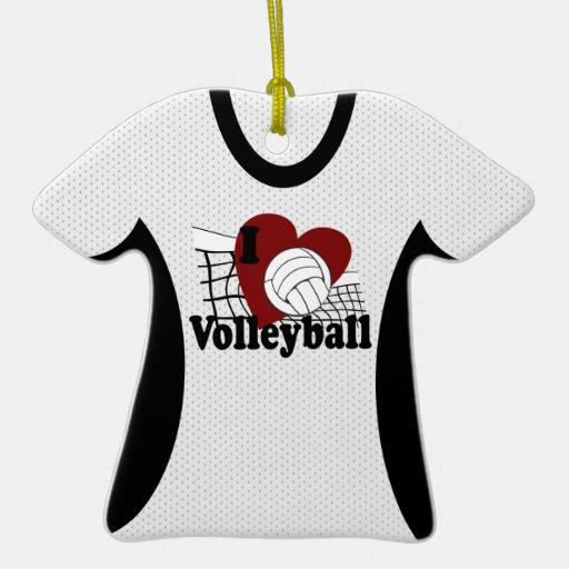 I Love Volleyball Jersey Photo Keepsake Christmas Ornament