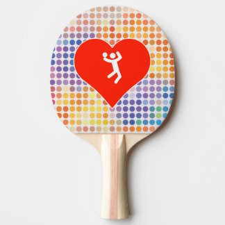 I Love Volleyball Ping Pong Paddle