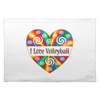 I Love Volleyball Placemat