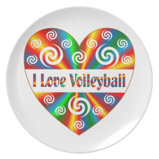 I Love Volleyball Plate