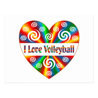 I Love Volleyball Postcard