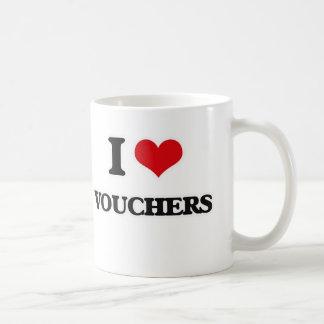 I Love Vouchers Coffee Mug