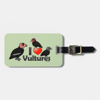 I Love Vultures (North America) Luggage Tag