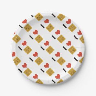I Love Waffles Paper Plate