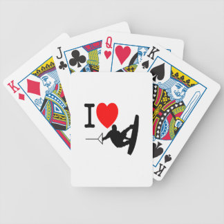 I LOVE WAKEBOARDING BICYCLE PLAYING CARDS