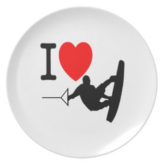 I LOVE WAKEBOARDING PLATE