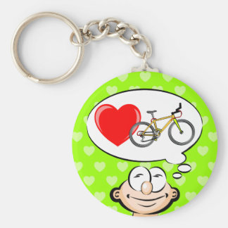 I love walking in biciclets keychain