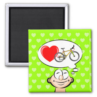 I love walking in bicycle magnet