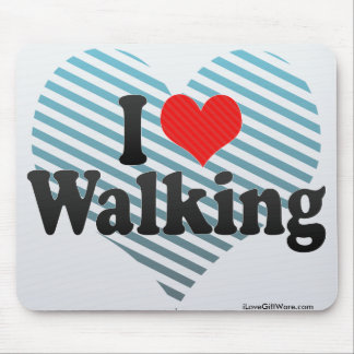 I Love Walking Mouse Pad