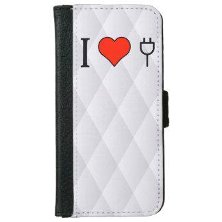 I Love Wall Socket iPhone 6 Wallet Case