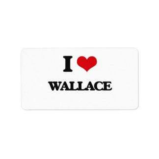I Love Wallace Address Label