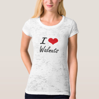 I Love Walnuts artistic design T-Shirt