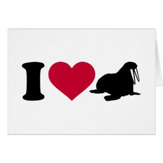 I love Walruses Card