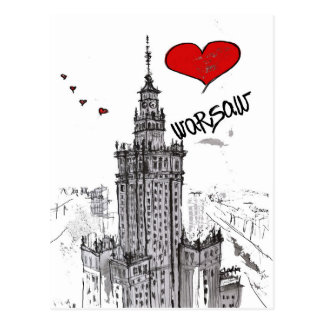 I love Warsaw Postcard