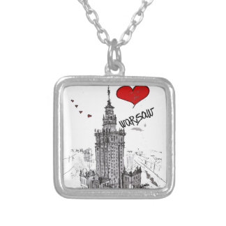 I love Warsaw Silver Plated Necklace