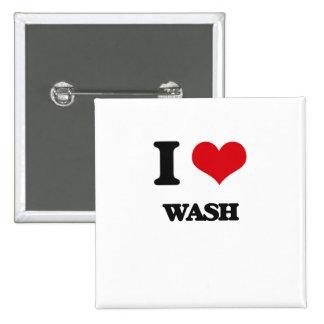 I love Wash 2 Inch Square Button