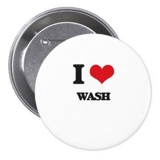 I love Wash 3 Inch Round Button