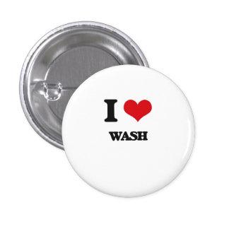 I love Wash 1 Inch Round Button
