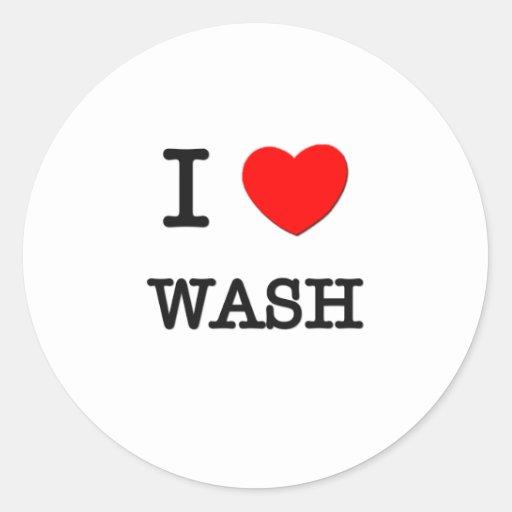 I Love Wash Sticker