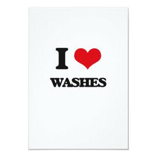 "I love Washes 3.5"" X 5"" Invitation Card"