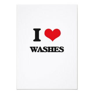 "I love Washes 5"" X 7"" Invitation Card"