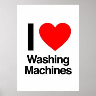 i love washing machines poster