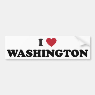 I Love Washington Bumper Sticker