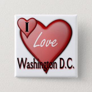 I Love Washington D.C. 2 Inch Square Button