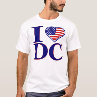 I Love Washington DC Forth Of July Edition T-Shirt