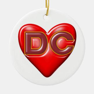 I Love Washington DC Round Ceramic Ornament