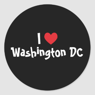 I Love Washington DC Round Sticker