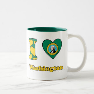 I love Washington Two-Tone Coffee Mug