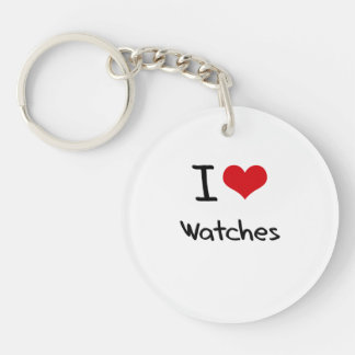 I love Watches Double-Sided Round Acrylic Keychain
