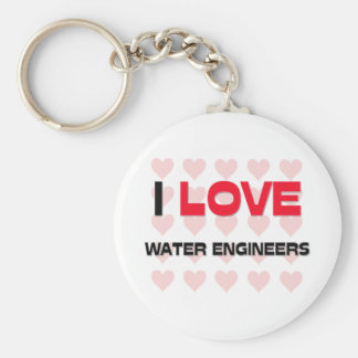 I LOVE WATER ENGINEERS BASIC ROUND BUTTON KEYCHAIN