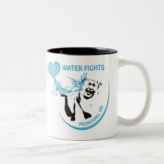I love Water fights Munising Two-Tone Coffee Mug