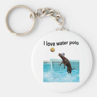 I love water polo keychain