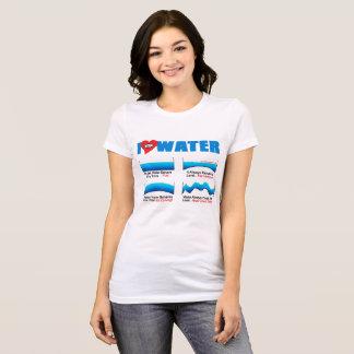 I LOVE WATER Womens Tshirt     AllSeeingHeart.org