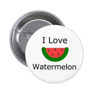 I Love Watermelon 2 Inch Round Button
