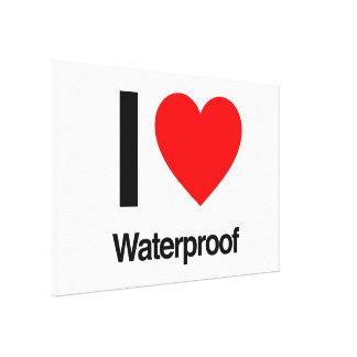 i love waterproof canvas print