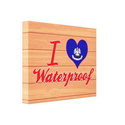 I Love Waterproof, Louisiana Canvas Prints