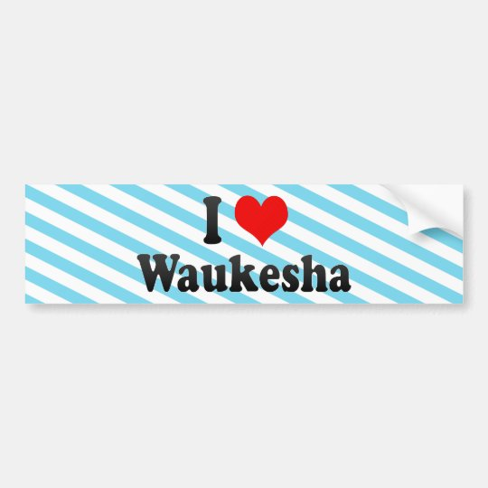 I Love Waukesha, United States Bumper Sticker