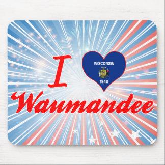 I Love Waumandee, Wisconsin Mousepad