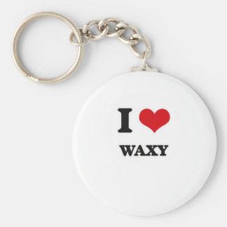 I Love Waxy Keychain