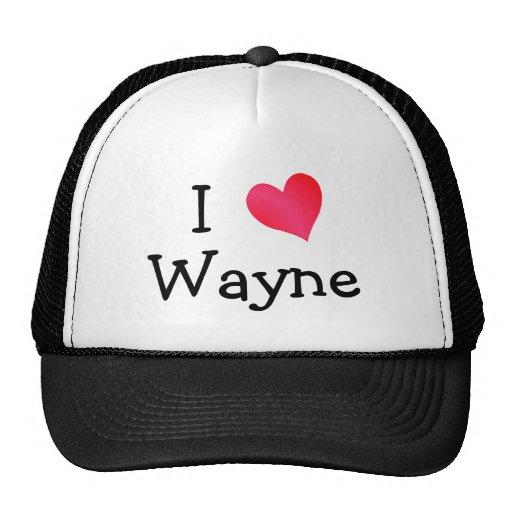 I Love Wayne Hat