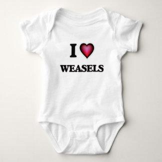 I Love Weasels Baby Bodysuit