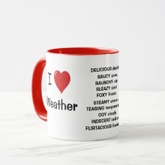 I Love Weather - Funny Meteorologist Quote Reasons Mug