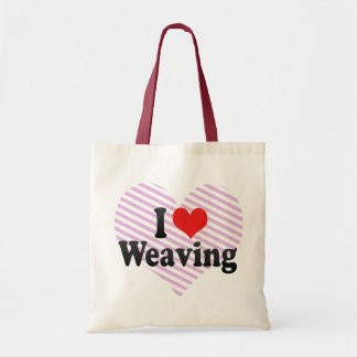 I Love Weaving Tote Bag