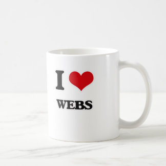 I Love Webs Coffee Mug