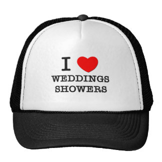 I Love Weddings Showers Trucker Hats